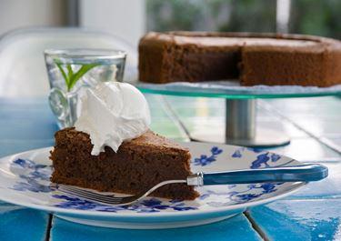 Υγρό κέικ σοκολάτας χωρίς αλεύρι