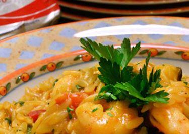 Κριθαρότο με portobello, ασπρομανίταρα και πλευρώτους