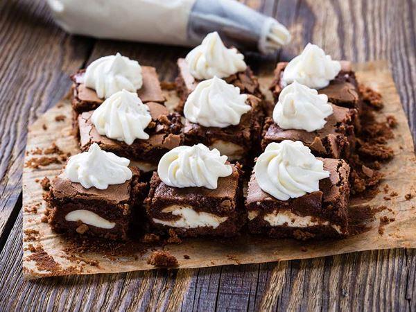 Cheesecake Brownies με Arla Φρέσκο Τυρί Κρέμα
