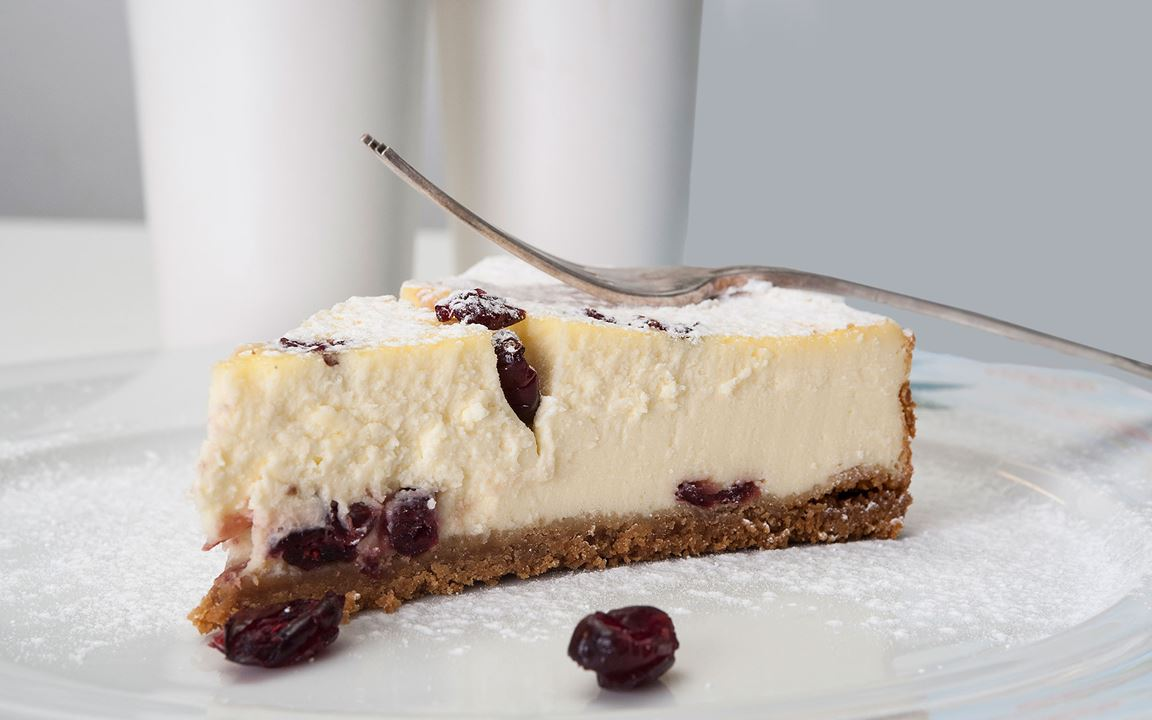 Ψητό Cheese Cake με Arla Buko & Cranberries
