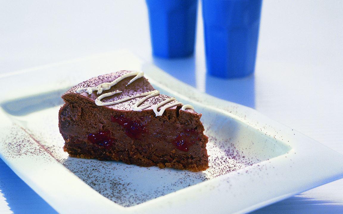 Cheesecake σοκολάτα και βατόμουρο
