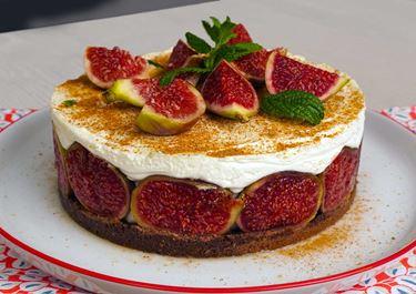 Cheesecake με φρέσκα σύκα