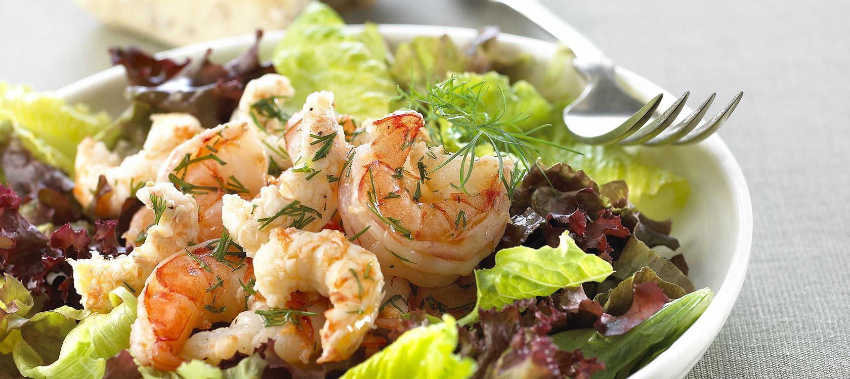 Ζεστή σαλάτα με θαλασσινά