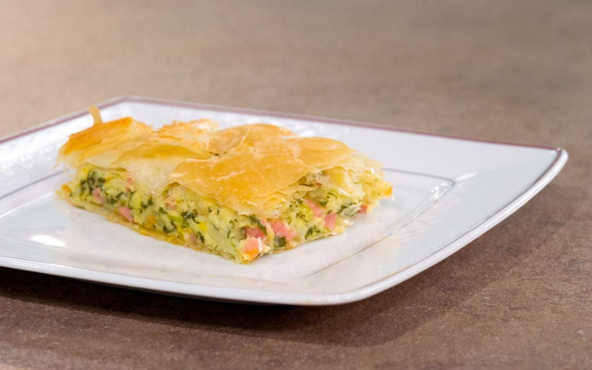 Σελινόριζα στον φούρνο με πατάτα, καρότο και Arla Αυθεντικό Regato