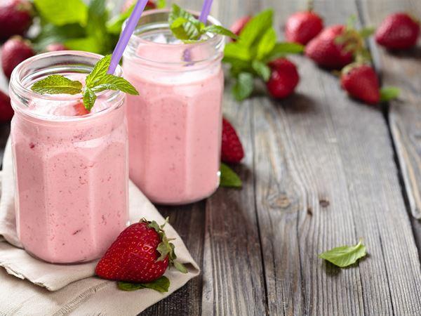 Smoothie με Arla Lactofree , φράουλα και lime