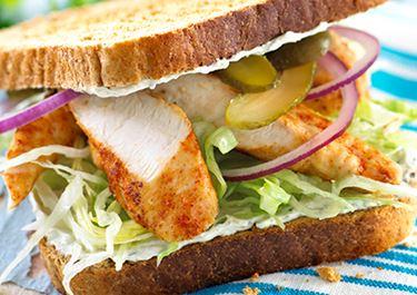 Σάντουιτς με κοτόπουλο και πάπρικα