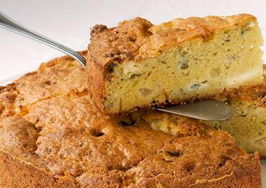 Cake με μπλε τυρί και αχλάδια