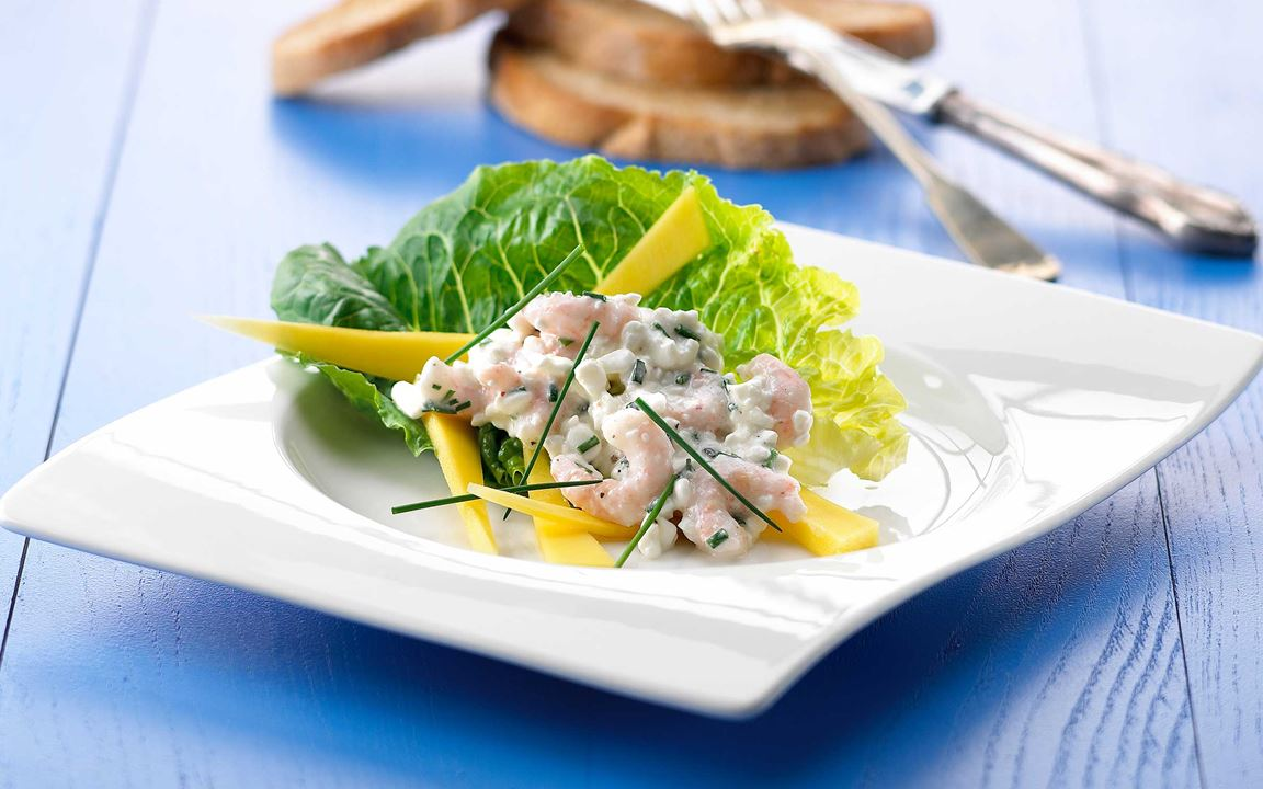 Arla Protein Cottage Cheese με γαρίδες και Μάνγκο