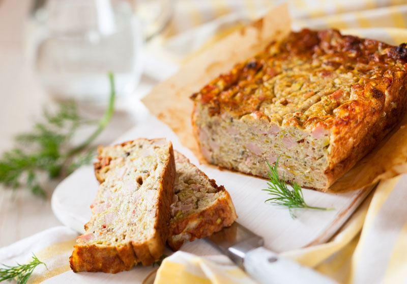 Αλμυρό κέικ με ζαμπόν και Regato