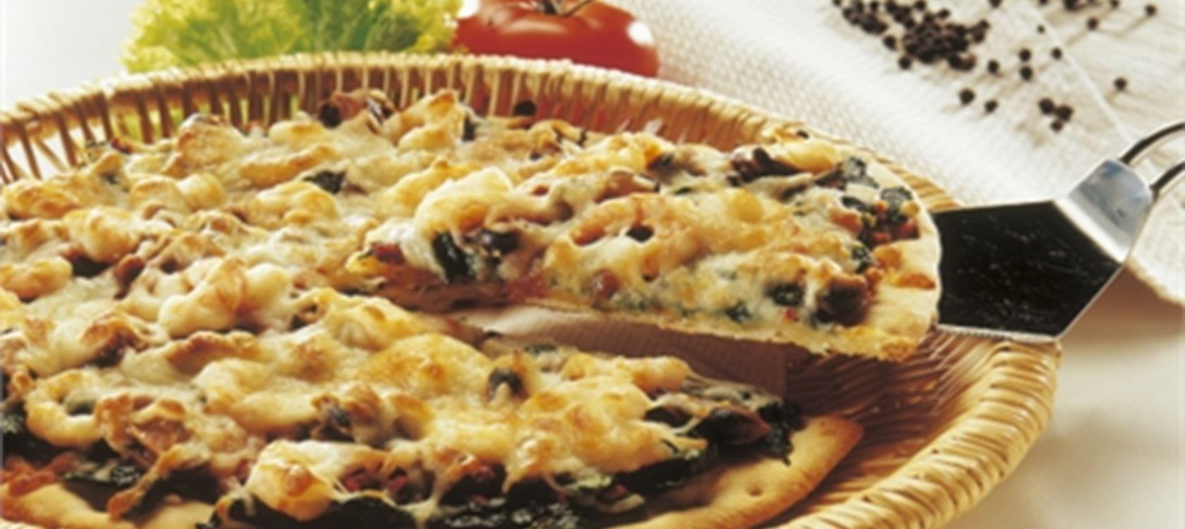 Πίτσα με γαρίδες και μύδια