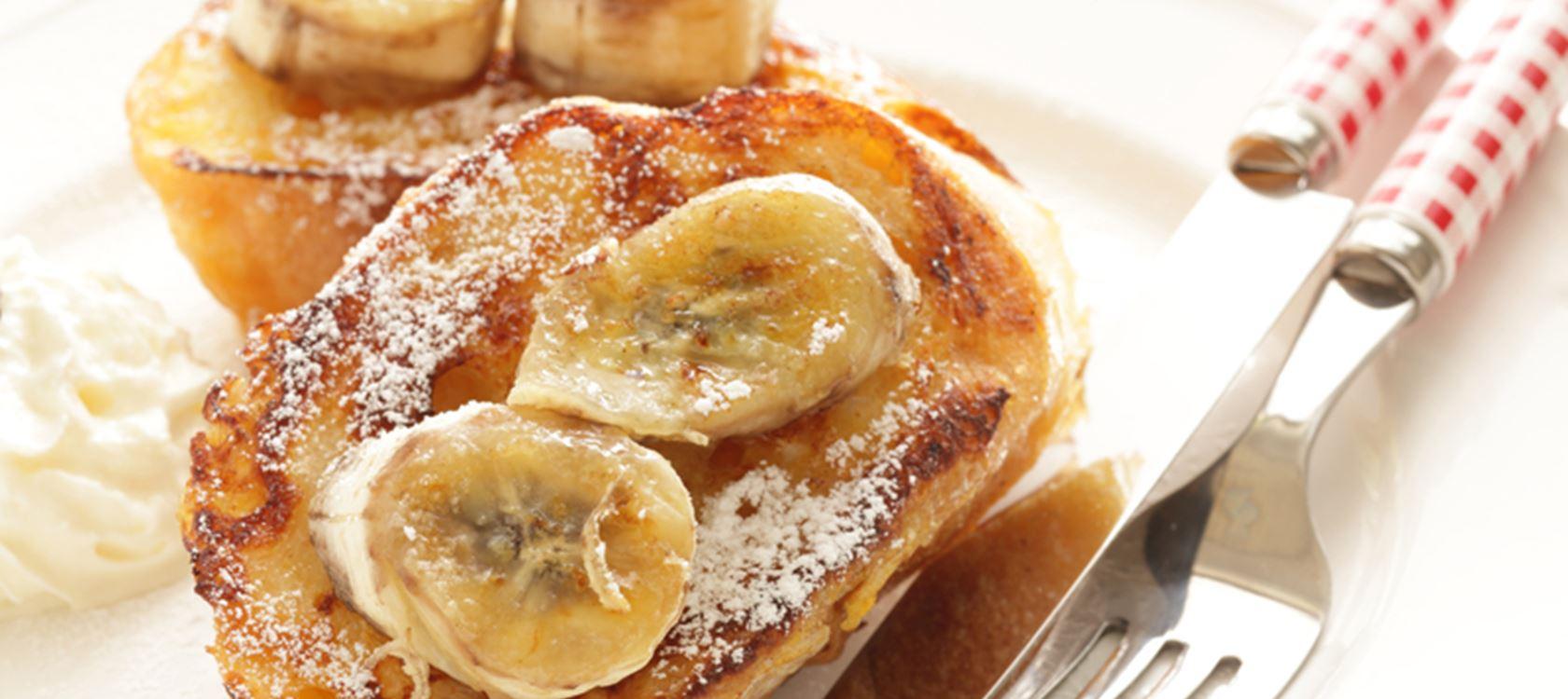 Αυγόφετες με μπανάνα και μέλι