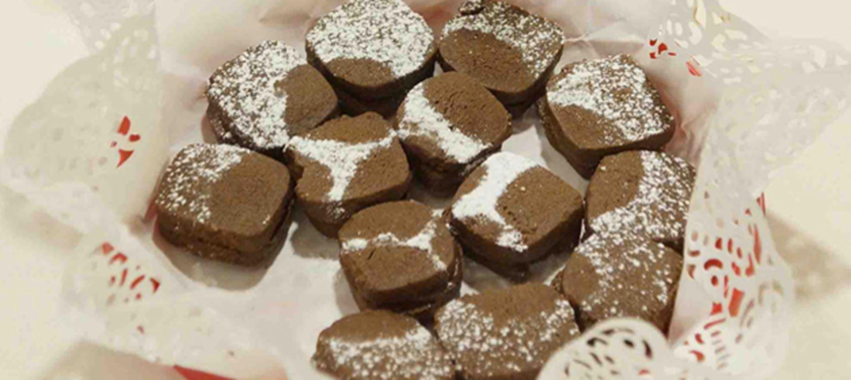 Μπισκότα φουρνιστά με σοκολάτα