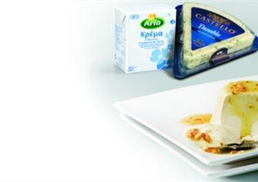 Πανακότα με τυρί Castello