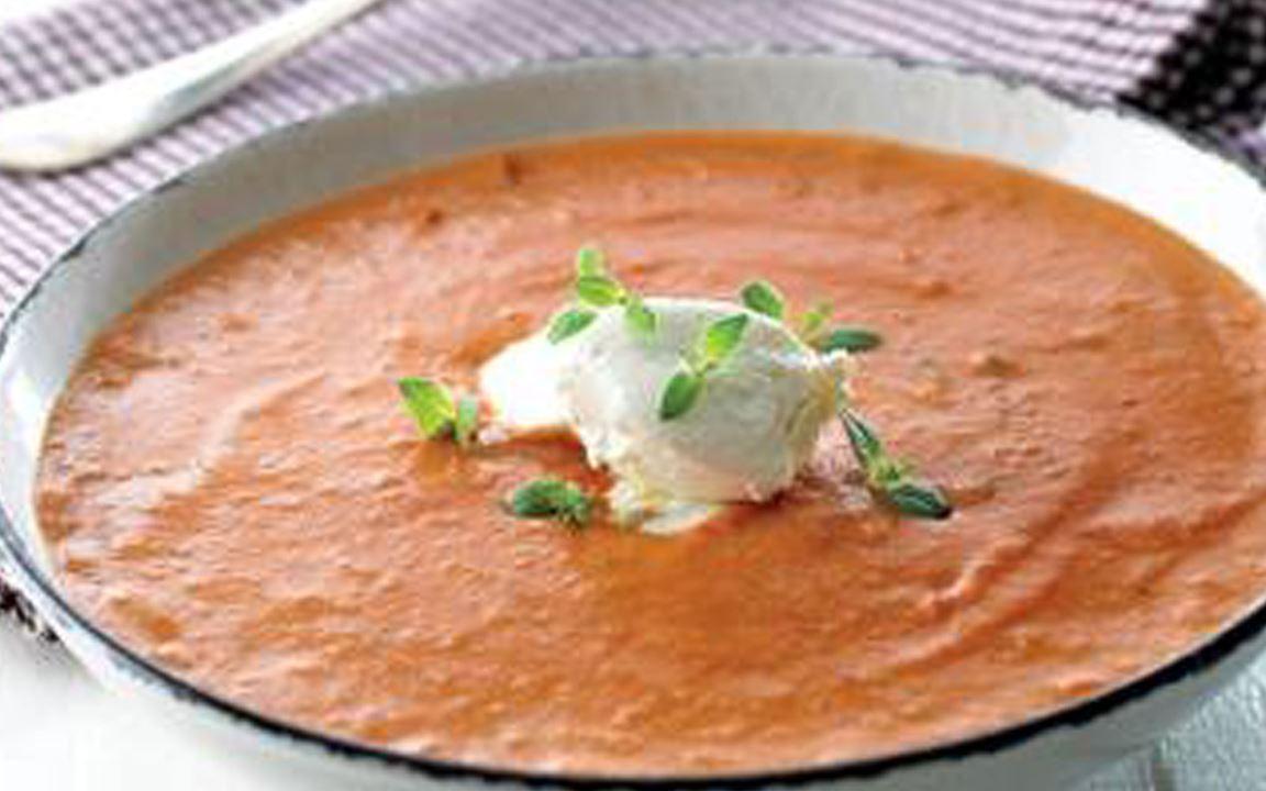 Lactosevrije tomatensoep