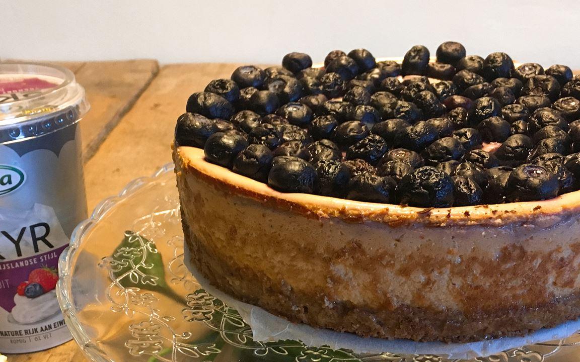 Bosvruchten Cheesecake met Arla skyr