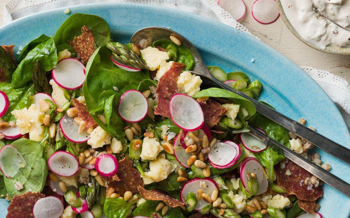 Italiaanse salade met lactosevrije dressing