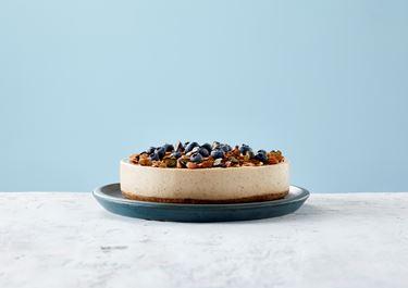 Feestelijke Lactosevrije Amandel Cheesecake met limoen
