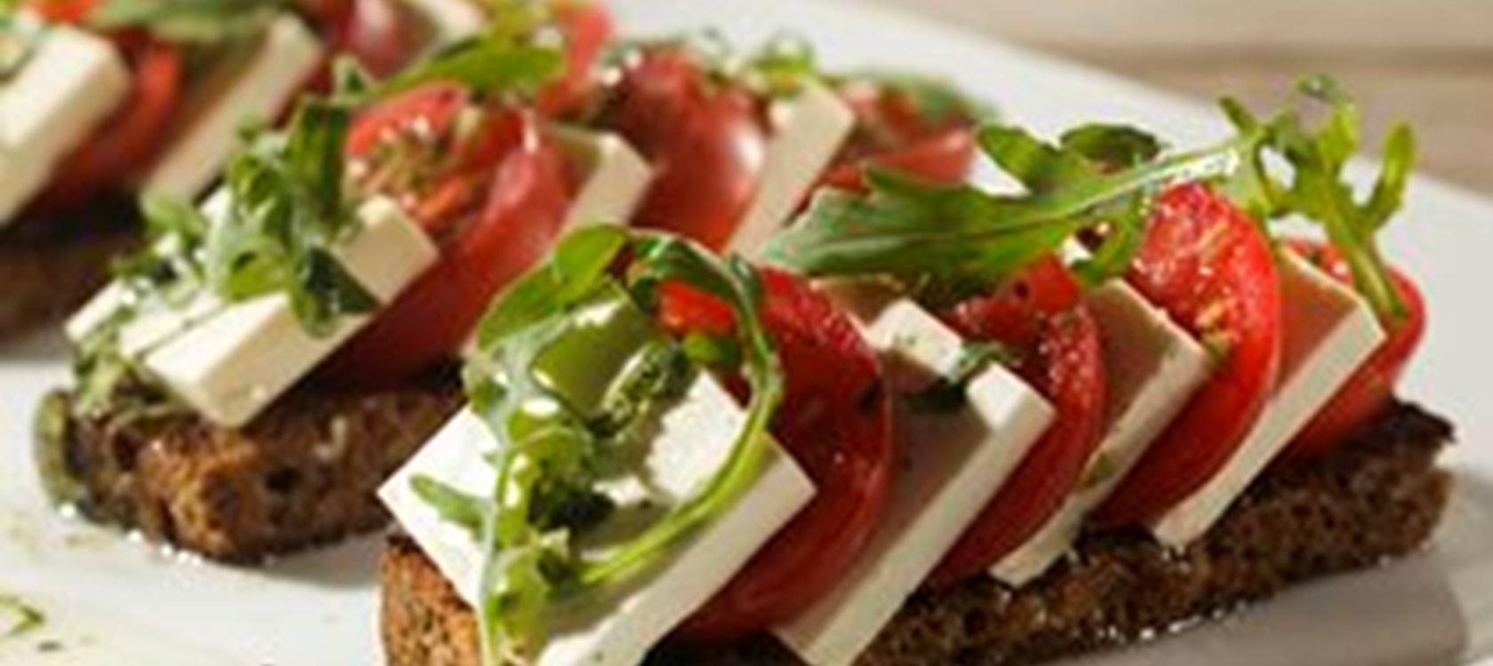Salade Caprese met citrusdressing