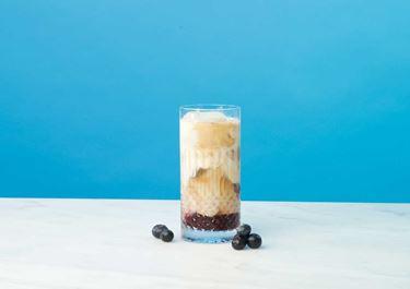 Lactosevrije blueberry ijskoffie