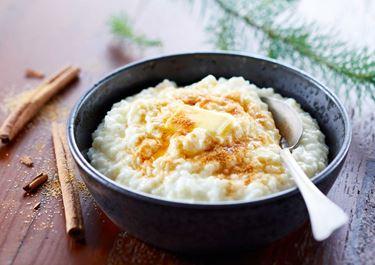 Rijstepap met kaneelsuiker