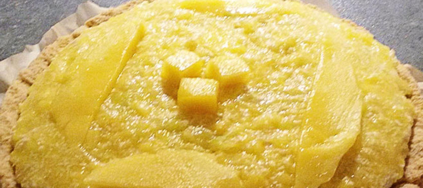Lactosevrije mangocheesecake