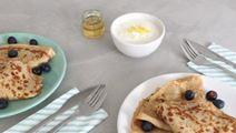 Lactosevrije blueberry pancakes