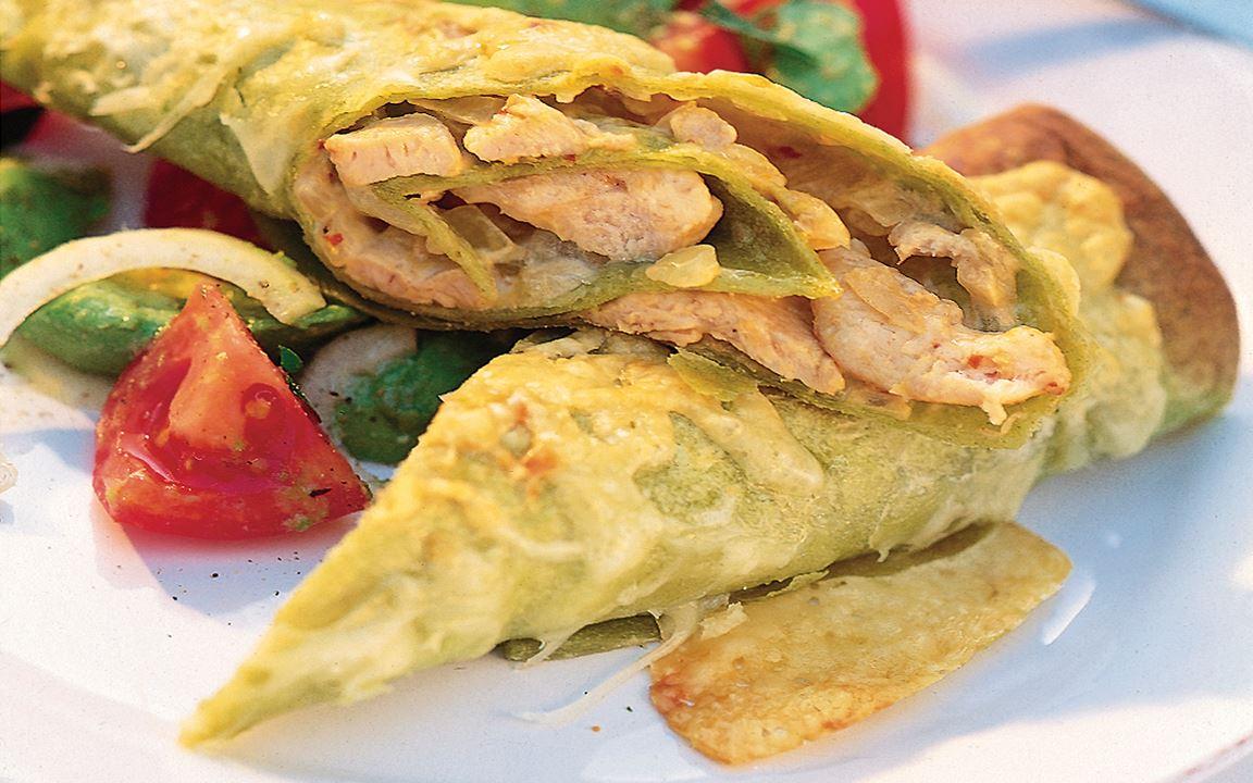 Enchiladas med kycklingröra