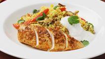 Kyckling med couscous och vitlöksyoghurt
