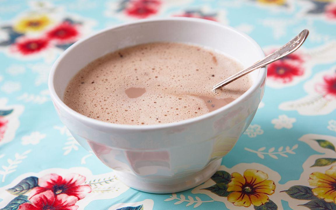 Kaffe med chokladmjölk