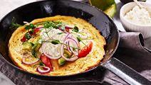 Omelett med avokado