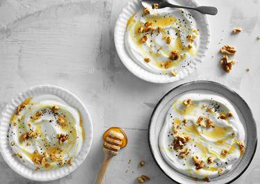 Grekisk yoghurt med honung och valnötter