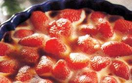 Flädergratinerade jordgubbar