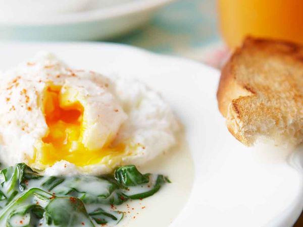 Pocherat ägg
