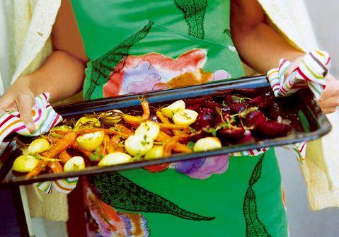 Ugnsrostade grönsaker