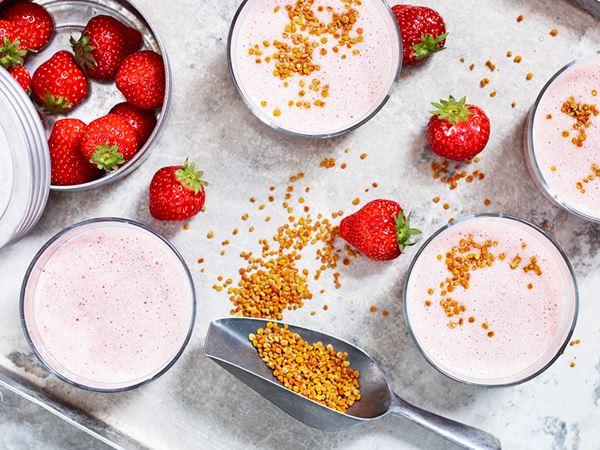 Baobabmjölk med jordgubbar