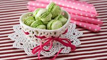 Macarons med pistage