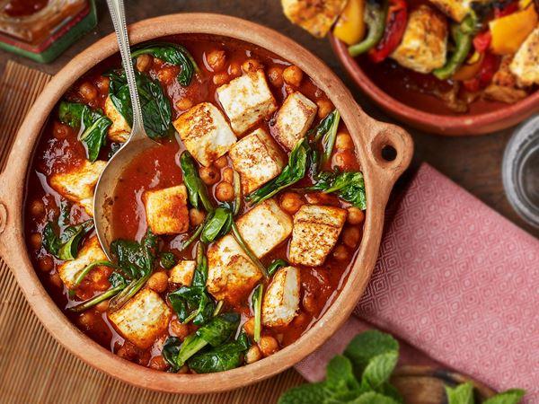 Vegetarisk curry med paneer