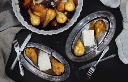Brillat Savarin med karamellpäron