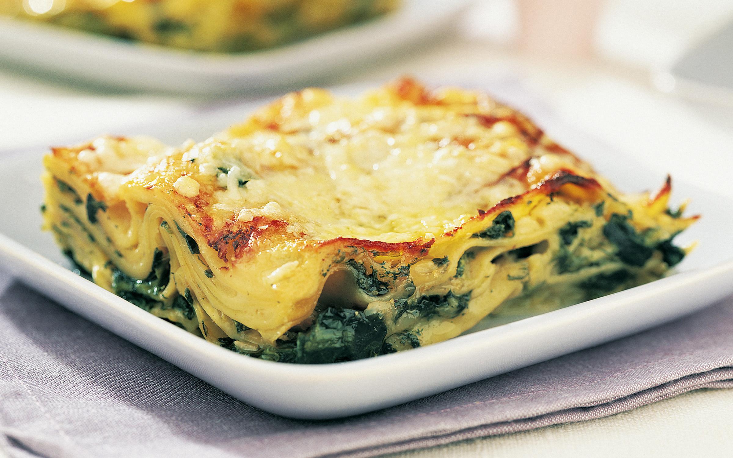 grön lasagne recept