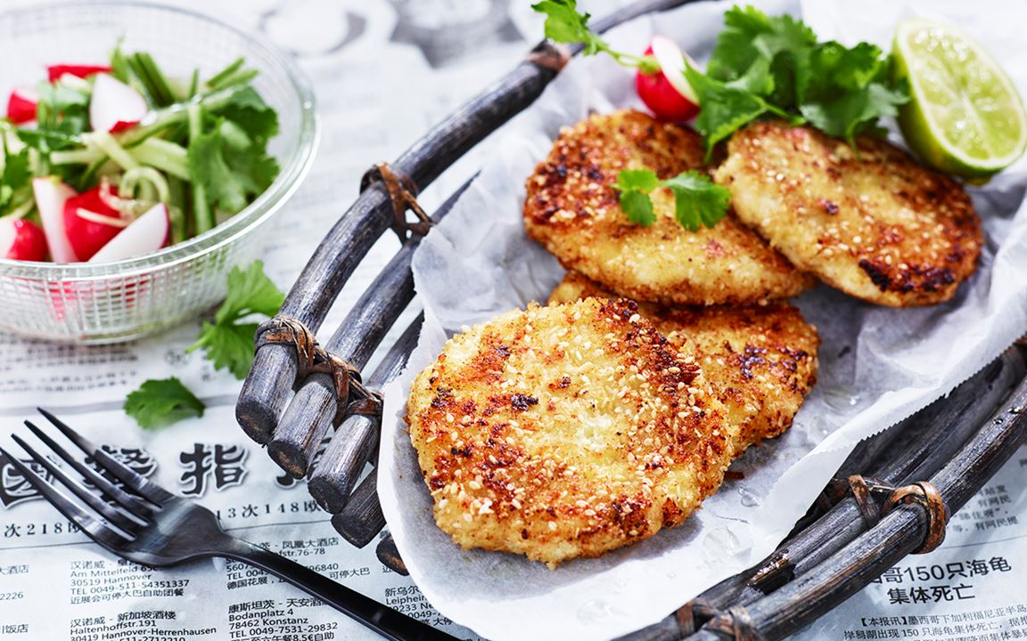 Små fishcakes med vitost och lime
