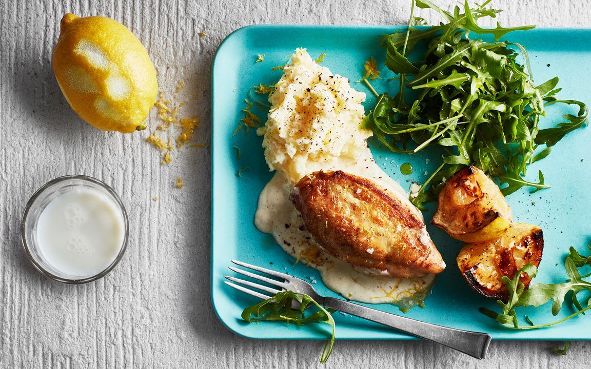 Citronkyckling med potatismos