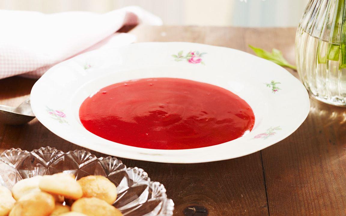 Saftkräm med mandelkakor