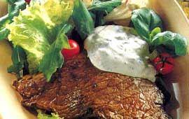 Lövbiff med oliv- och sardellröra