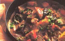 Fransk köttgryta med valnötter