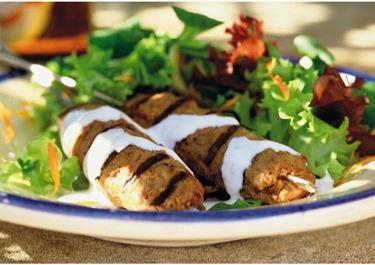 Kebab med vitlök