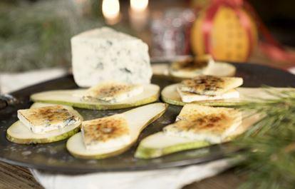 Päronsnittar med karamelliserad ädelost