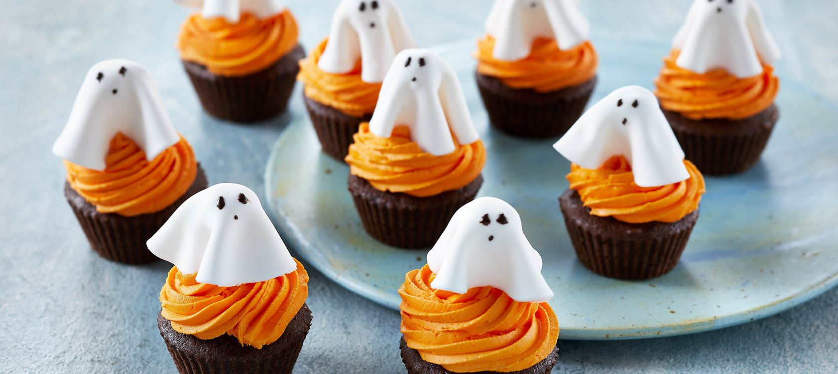 Läskiga halloweenmuffins