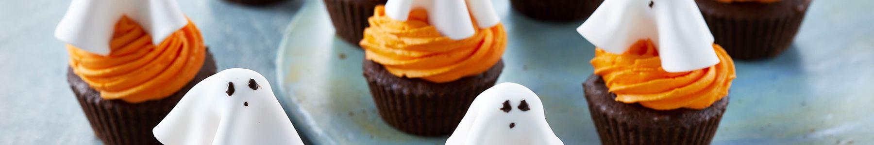 Amerikansk + Halloween + Cupcakes