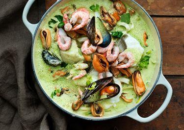 Casserole med torsk och musslor