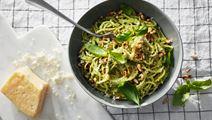 Spaghetti med krämig pesto
